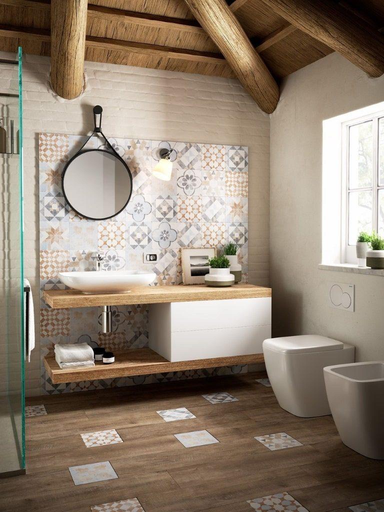 Azulejos hidráulicos haz tu baño diferente